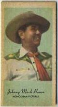 Johnny Mack Brown - 1950s Engrav-o-tint Peerless Weight Machine Card