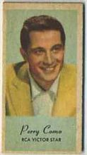 Perry Como - 1950s Engrav-o-tint Peerless Weight Machine Card