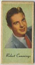 Robert Cummings - 1950s Engrav-o-tint Peerless Weight Machine Card