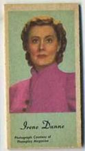Irene Dunne - 1950s Engrav-o-tint Peerless Weight Machine Card