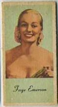 Faye Emerson - 1950s Engrav-o-tint Peerless Weight Machine Card