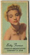 Betty Furness - 1950s Engrav-o-tint Peerless Weight Machine Card