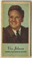 Van Johnson - 1950s Engrav-o-tint Peerless Weight Machine Card
