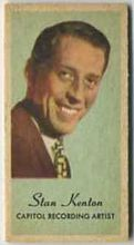 Stan Kenton - 1950s Engrav-o-tint Peerless Weight Machine Card