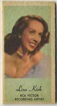 Lisa Kirk - 1950s Engrav-o-tint Peerless Weight Machine Card
