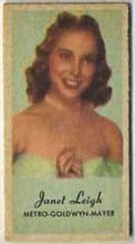 Janet Leigh - 1950s Engrav-o-tint Peerless Weight Machine Card