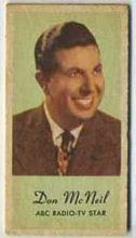 Don McNeil - 1950s Engrav-o-tint Peerless Weight Machine Card