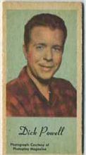 Dick Powell - 1950s Engrav-o-tint Peerless Weight Machine Card
