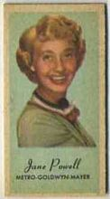 Jane Powell - 1950s Engrav-o-tint Peerless Weight Machine Card