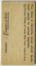 Sample reverse image of 1950s Engrav-o-tint Weight Machine Card