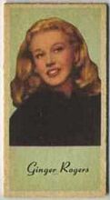 Ginger Rogers - 1950s Engrav-o-tint Peerless Weight Machine Card