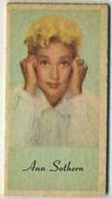 Ann Sothern - 1950s Engrav-o-tint Peerless Weight Machine Card