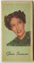 Gloria Swanson - 1950s Engrav-o-tint Peerless Weight Machine Card