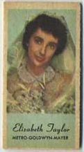 Elizabeth Taylor - 1950s Engrav-o-tint Peerless Weight Machine Card