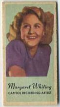 Margaret Whiting - 1950s Engrav-o-tint Peerless Weight Machine Card