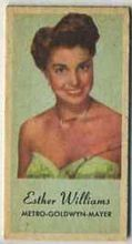 Esther Williams - 1950s Engrav-o-tint Peerless Weight Machine Card