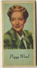 Peggy Wood - 1950s Engrav-o-tint Peerless Weight Machine Card