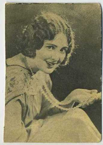 Billie Dove 1924 Henry Clay and Bock Tobacco Card
