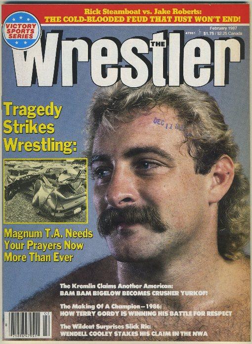 The Wrestler Mag Feb 1987 MAGNUM TA CAR CRASH COVERAGE  eBay