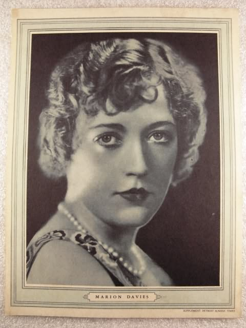 Marion Davies Detroit Sunday Times Supplement