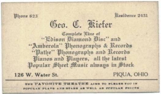 191517 piqua ohio favorite theatre movie star trading cards