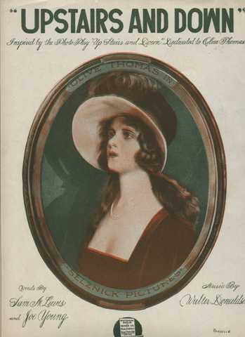 Olive Thomas featured on Upstairs and Down Sheet Music