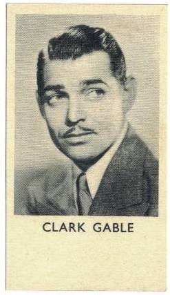 1935 Clark Gable Shirley's Gum Card