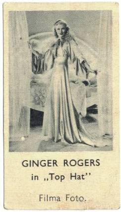 1935 Ginger Rogers Shirley's Gum Card