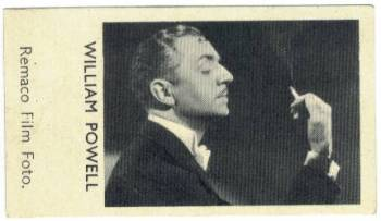 1935 William Powell Shirley's Gum Card