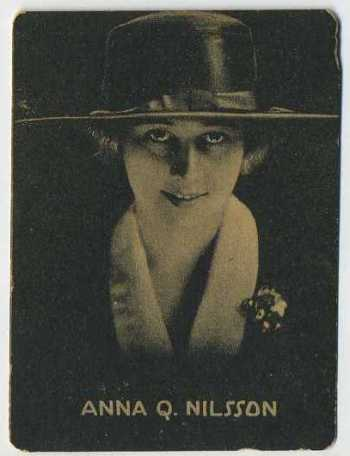 Anna Q Nilsson - 1921 Henry Clay and Bock Tobacco Card