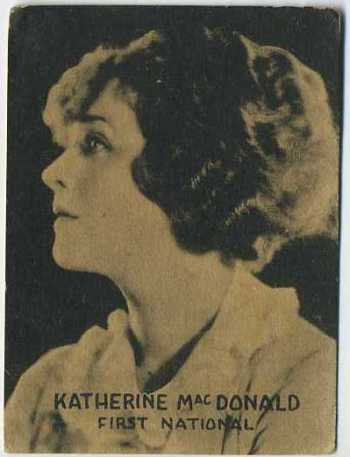 Katherine MacDonald - 1921 Henry Clay and Bock Tobacco Card