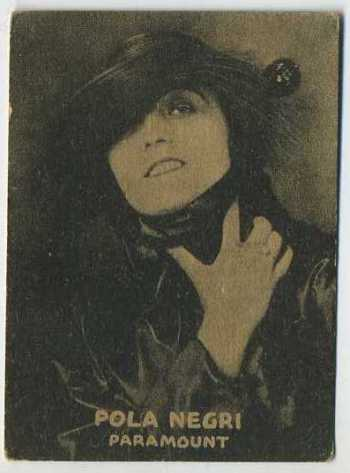 Pola Negri - 1921 Henry Clay and Bock Tobacco Card