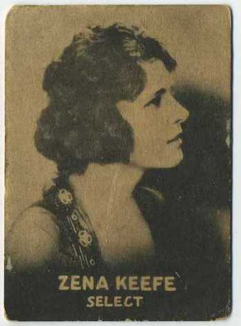 Zena Keefe - 1921 Henry Clay and Bock Tobacco Card