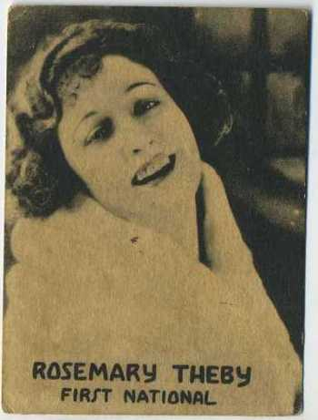 Rosemary Theby - 1921 Henry Clay and Bock Tobacco Card