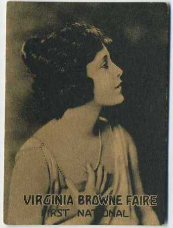 Virginia Browne Faire - 1921 Henry Clay and Bock Tobacco Card