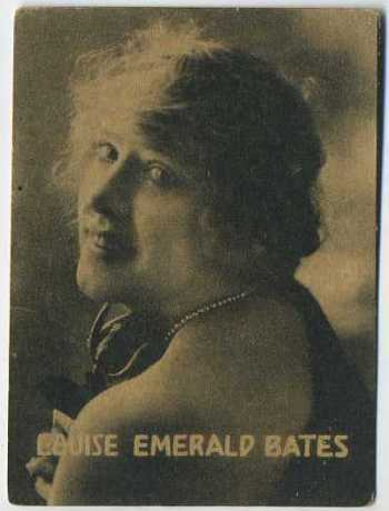 Louise Emerald Bates - 1921 Henry Clay and Bock Tobacco Card