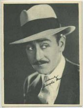 Adolphe Menjou - 1920s Kashin Motion Pictures Star Movie Card
