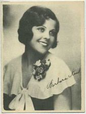 Barbara Kent - 1920s Kashin Motion Pictures Star Movie Card