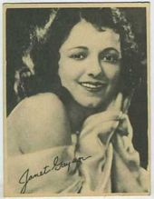 Janet Gaynor - 1920s Kashin Motion Picture Stars Movie Card