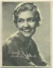 Laura La Plante - 1920s Kashin Motion Pictures Star Movie Card