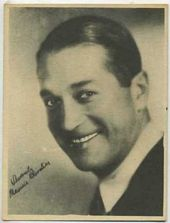 Maurice Chevalier - 1920s Kashin Motion Pictures Star Movie Card