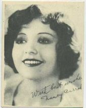Nancy Carroll - 1920s Kashin Motion Pictures Star Movie Card