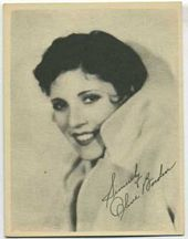 Olive Borden - 1920s Kashin Motion Pictures Star Movie Card