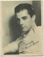 Ramon Novarro - 1920s Kashin Motion Pictures Star Movie Card