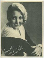 Thelma Todd - 1920s Kashin Motion Picture Stars Movie Card
