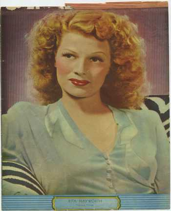 Rita Hayworth Writing Tablet Cover