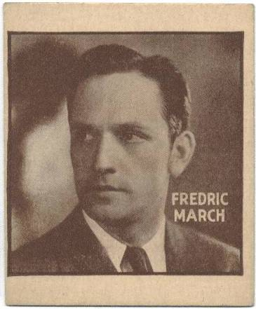 "1933 General Gum Co., ""Movie Gum"" Fredric March"