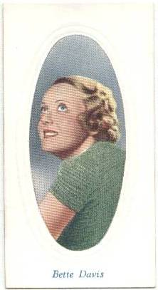 1936 Bette Davis Godfrey Phillips Tobacco Card