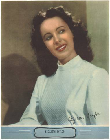 Unknown 1940's Color Theater Premiums Elizabeth Taylor