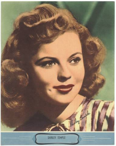 Unknown 1940's Color Theater Premiums Shirley Temple